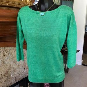 Fresh Green Summer Linen Sweater